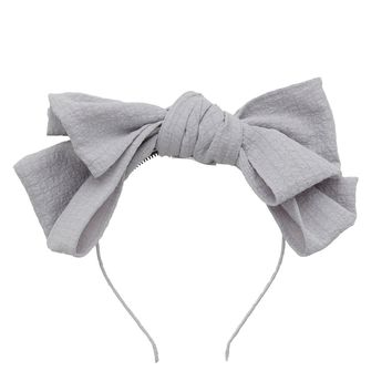 Project 6 NY Light Grey Floppy Muslin Headband