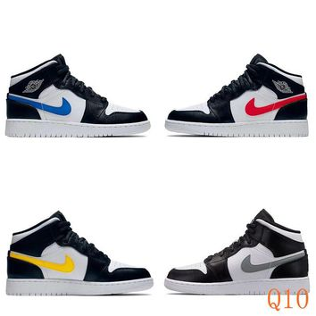 HCXX 19Aug 394 Air Jordan 1 Mid 554725-052 Skateboard Shoes Breathable Casual Sneakers