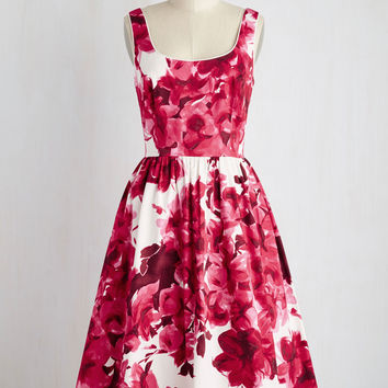 Wonder for the Record Books Dress in Magenta | Mod Retro Vintage Dresses | ModCloth.com