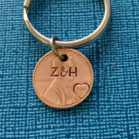Gift for Husband - Lucky Penny - Gift for Boyfriend - Custom Penny - Anniversary Gift - Penny Keychain - Custom Keychain - Gift for Men