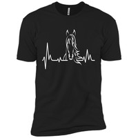 Horse Heartbeat Tshirt - Horse Lovers Shirt