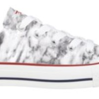 6W718 Minimalist Marble Converse Low Top for Women - Qtee.com