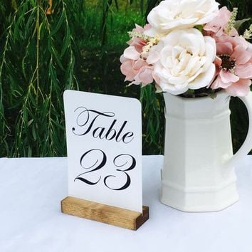 Table Number Holder, 5 inch, Set of 20, For Weddings, Restaurants,Banquets, Rustic, by Gallery360Designs
