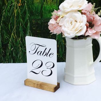 Table Number Holder, 5 inch, Set of 10, For Weddings,Restaurants, Banquets, Wood Rustic, by Gallery360Designs