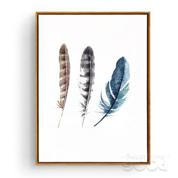 Watercolor Leathers Canvas Art Print Poster, Wall Pictures For Home Decoration, Giclee Print Wall Decor CM012