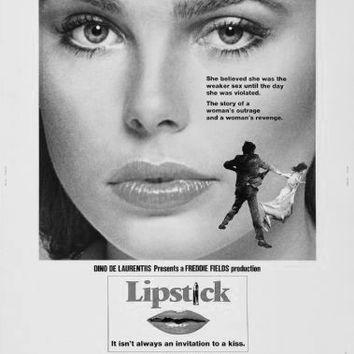"Lipstick Poster Black and White Poster 24""x36"""