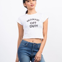 Mermaid Off Duty Cropped Tee