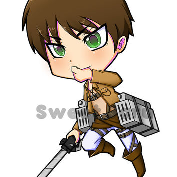 Eren Jaeger - Attack on Titan Keychain ( Shingeki no Kyojin ) - Double-sided keychain