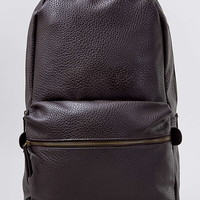 Brown Leather Look Backpack - New This Week - New In