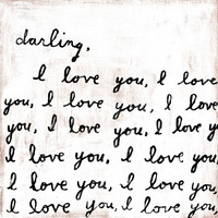 Sugarboo Art Print: Darling, I Love You