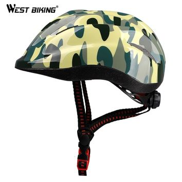WEST BIKING Bike Helmet Child 48-55CM Ultralight Safety Protector Wind-Resistance Hat Casco Ciclismo Kids Bicycle Cycling Helmet