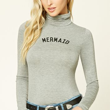 Mermaid Graphic Turtleneck