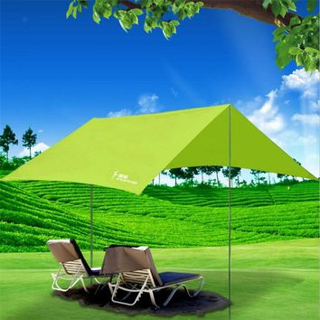 Outdoor Summer Beach Tent Sun Shelter Camping Hiking Event Party Picnic Bivvy Awning Waterproof Anti-UV Tarp Pergola Gazebo E21