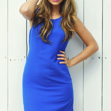 Double Trouble Bow Dress: Royal Blue | Hope's