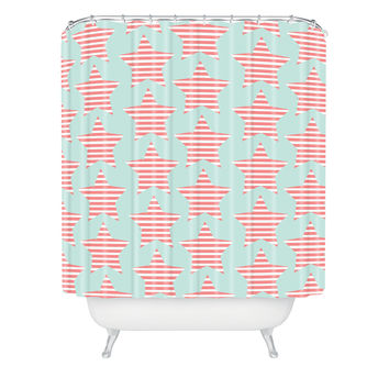 Allyson Johnson Stripes And Stars Shower Curtain