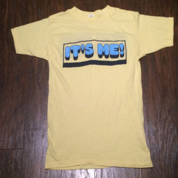 "80s Vintage ""It's Me"" Tee // Novelty // Small //"