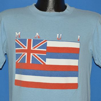 80s Maui Hawaiian Flag Sunstrokes Tourist t-shirt Medium