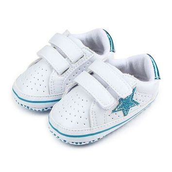 LCMFON Infant Boy Girl Soft Sole Shoes Sneaker Newborn Baby Soft Five-Pointed Star Baby Toddler Shoes Breathable Kids Shoes