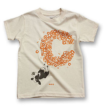biome5 Organic Letter Tees C: Cow