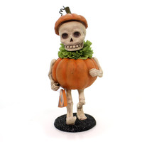 Halloween SKULLY'S PUMPKIN COSTUME Mummer's Parade Trick Or Treat Td5040