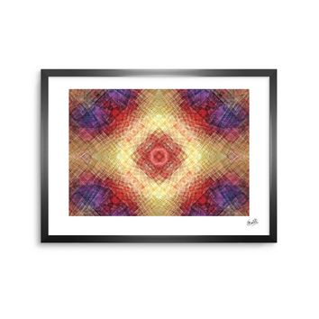 "Justyna Jaszke ""Mandala Mosaic"" Multicolor Pastel Abstract Pattern Digital Illustration Framed Art Print"
