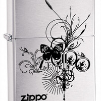 Zippo Butterfly Brushed Chrome Lighter