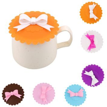 Anti-Dust Silicone Lids For Tea Cup Cover Coffee