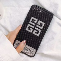 Givenchy 2018 New Fashion Trendy iPhone 6/7/8 Phone Case Cover F-OF-SJK Black