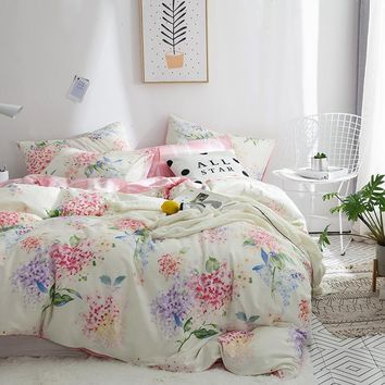 TUTUBIRD-pink floral princess bedding set bed linen 100% cotton pastral girls duvet cover home textile bedclothes pillowcases