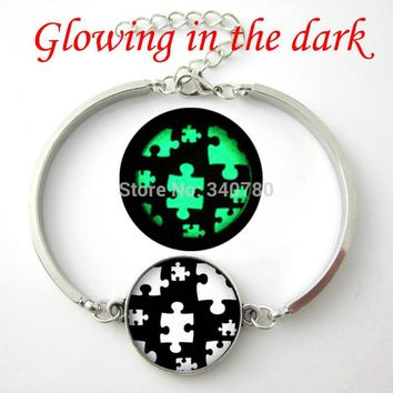 Glow in the dark Autism Awareness Bracelet