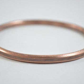 Copper Bangle, Copper Bracelet, Copper Jewelry, Unisex Jewelry, Unisex Bangle, Unisex Bracelet, Texture Jewelry, Patina Jewelry, Aged Bangle