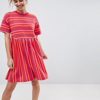 ASOS Smock Dress in Cut About Stripe at asos.com