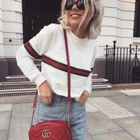 Long-Sleeved Round Neck Sweater