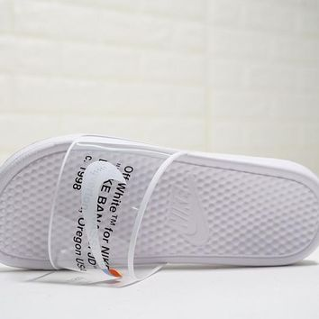 Virgil Abloh Off white x Nike Benassi Slide JDI Print Sandals ¡° bb06c9f38d