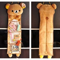 teddy bear organizer - Super Cute Soft Plush Long Hanging Storage Bag Toy, Decor Novelty Gift