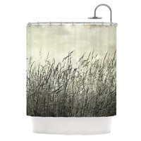 "Iris Lehnhardt ""Summer Grasses"" Neutral Gray Shower Curtain"