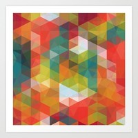 Transparent Cubism Art Print by All Is One