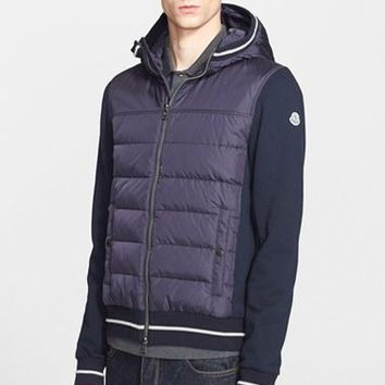 Men's Moncler Mixed Media Hooded Jacket,