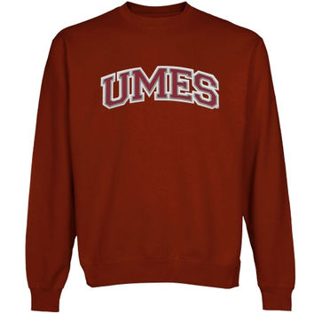 Maryland Eastern Shore Hawks Arch Name Sweatshirt - Cardinal