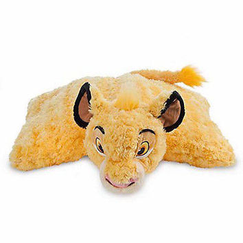disney parks the lion king simba reverse pillow pet plush new with tag