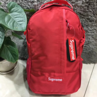 Supreme New fashion backpack travel couples sports backpack Red