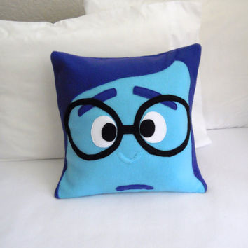 Sadness Fleece Pillow, Inside Out