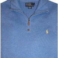 Men's Polo by Ralph Lauren Long Sleeve Pullover Sweater Pale Royal Heather
