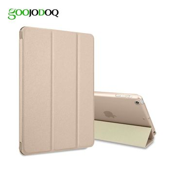 GOOJODOQ For iPad air 1 2 case smart cover Tri-fold PU Leather Case Color Ultra Slim PU Leather Auto Sleep the tablet case