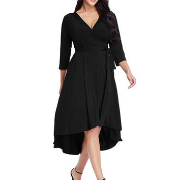 Short Dress Cocktail Formal Casual Plus Size