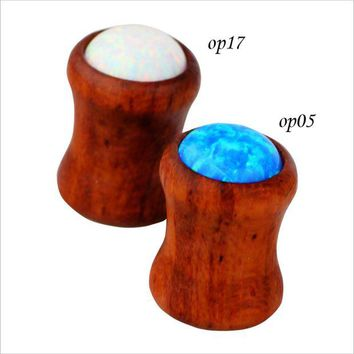 ac DCCKO2Q 1 Pair  8mm Fashion Jewelry Wood Ear Plugs and Tunnels   Tapers Expanders Body Piercing Jewelry for Women