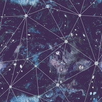 Cosmic Watercolor Removable Wallpaper