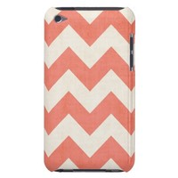 Coral Chevron iPod Touch Barely There Case