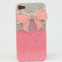 Nova Case® 3D Crystal iPhone Case for AT&T Verizon Sprint Apple iPhone 4/4S Pink Bow: Cell Phones & Accessories