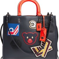 COACH 1941 'Rogue - Varsity Patches' Leather Satchel | Nordstrom